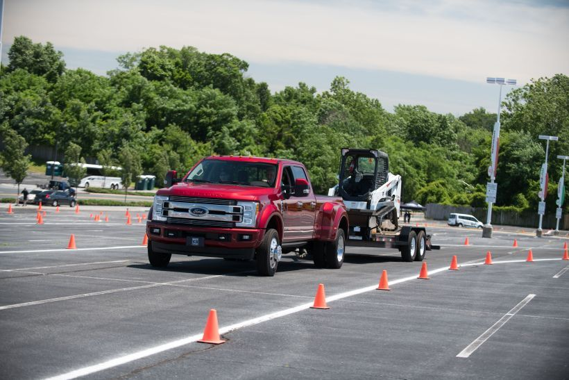 The Built Ford Tough Proving Grounds focused on the performance capabilities of Ford's trucks...