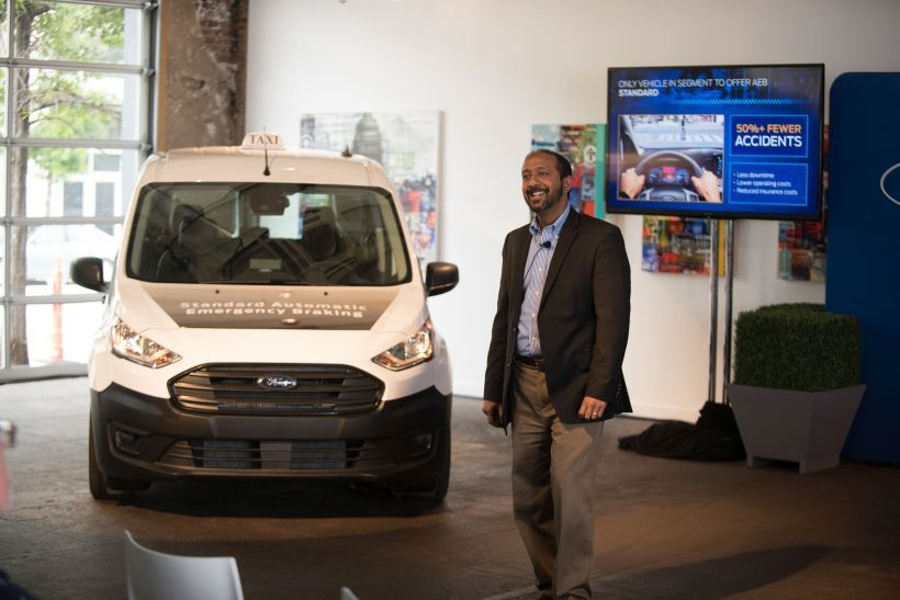 The 2019 Transit Connect Taxi with an available 1.5-liter EcoBlue diesel engine has a projected...