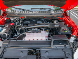 The 3.0-liter V-6 turbodiesel makes 250 horsepower and 440 lb.-ft. of torque as the F-150's...