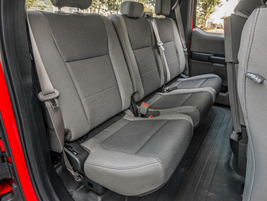 This F-150 is the SuperCab with a half door that swings 170 degrees and rear bench seat that...
