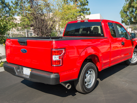 The F-150 diesel is available with a 5.5- or 6.5-foot (shown) box and rear-wheel drive or 4x4.