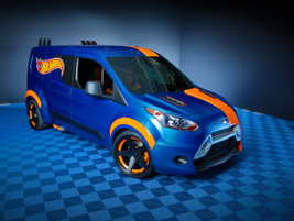 Ford showed 10 customized 2014 Transit Connect vans at the 2013 SEMA Show, including this Hot...