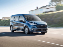 The new 2019 Transit Connect Wagon features also offers standard automatic emergency braking...