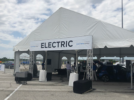 The Electric Pavilion showcased the Chevrolet Bolt EV with displays and test drives. The Bolt EV...