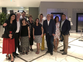 Some of the members of Mondelez International and LeasePlan connect during a networking break at...
