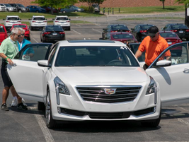 Fleet customers check out the Cadillac CT6 Super Cruise.