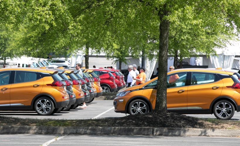 Fleet customers were given an opportunity to drive a fleet of Chevrolet Bolt EVs.