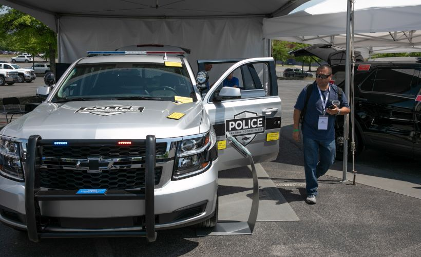 GM's police division showed its Chevrolet Tahoe PPV.