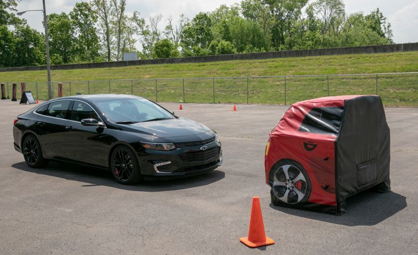GM demonstrated its Low Speed Forward Automatic Braking technology.