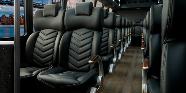 As this configuration shows, 36 employees or customers can be transported in comfort aboard the...