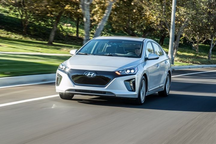 Hyundai's 2019 Ioniq Electric carries over from 2018 with a range of 124 miles and retail price...