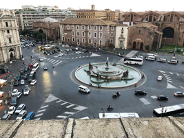 The view from the Global Fleet Conference Dinner overlooked Palazzo Naiadi. Transportation to...