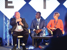 Participating in a panel discussion on successful global fleet implementation were (L-R) Ralf...