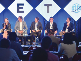 The technology discussion featured (L-R) Katrina Ingerslev of Ridecell EMEA; Edwin Maria Colella...