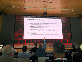 Bryce Merckling discussed mobility, telematics, and data services to be offered by Toyota...
