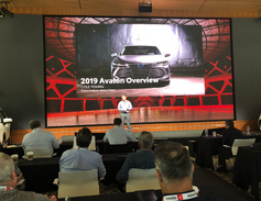 A presentation on the 2019 Avalon was given by Cole Young, senior analyst vehicle marketing for...