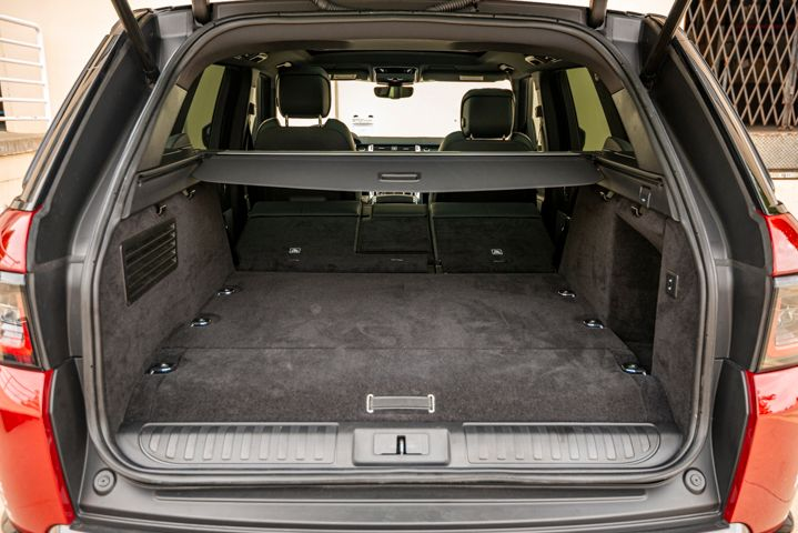 The 2019 Range Rover Sport PHEV features 27.5 cubic feet of cargo space and 59.5 cubic feet when...