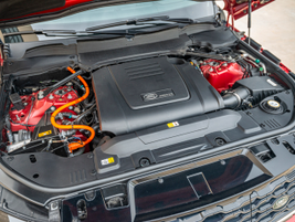 The Range Rover Sport PHEV's uses a combination of its 2.0L 296 hp gasoline engine and 105kw...