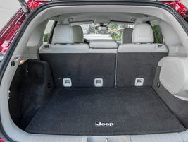 The Cherokee offers 25.8 cubic feet of cargo area behind the second row.