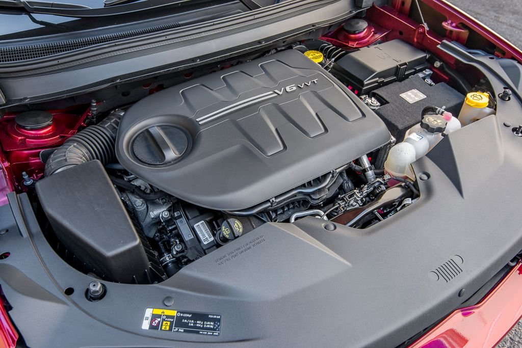 The 3.2-liter V-6 (shown) makes271 hp and 295 lb.-ft. of torque