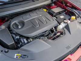 The 3.2-liter V-6 (shown) makes 271 hp and 295 lb.-ft. of torque