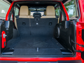 The Wrangler Unlimited offers 31.7 cubic feet of cargo space behind the rear seats.