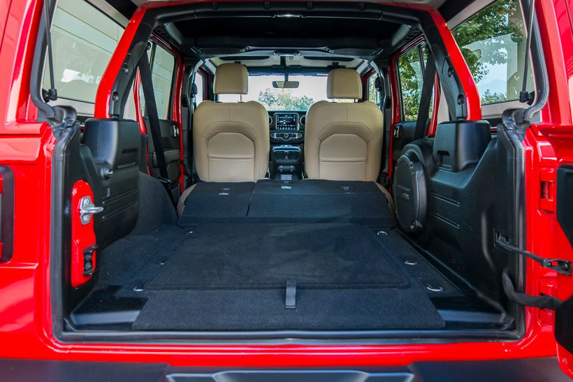 With the rear seats folded, it has 72.4 cubic feet ofcargo space.