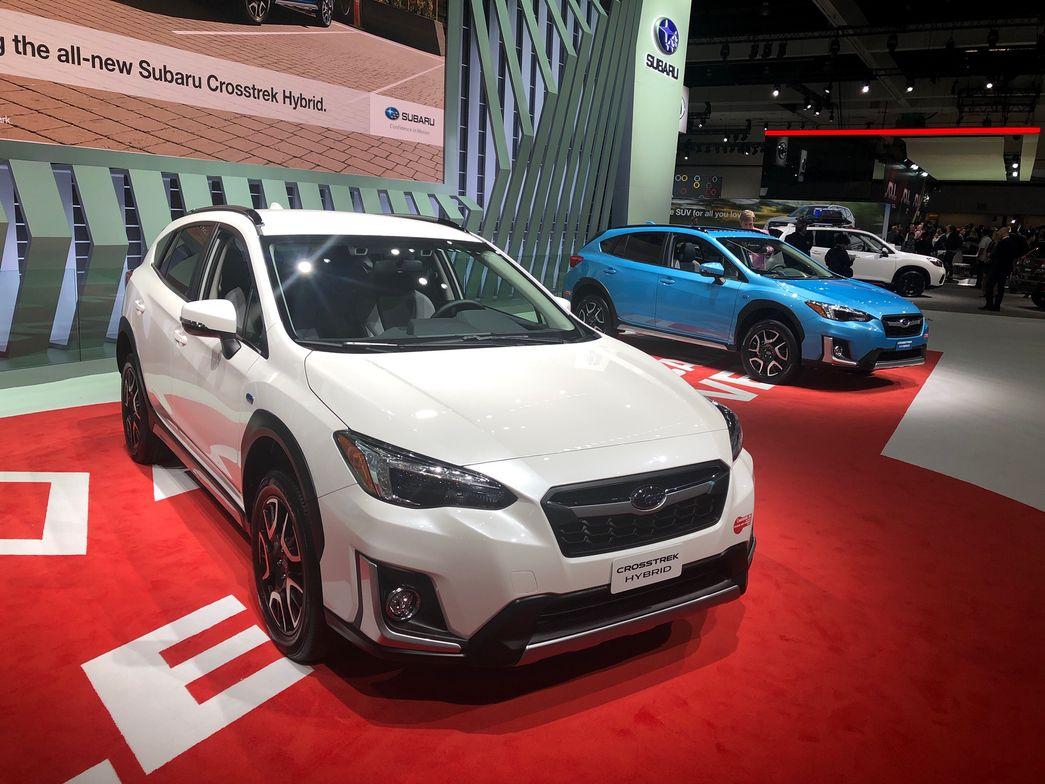 The 2019 Subaru Crosstrek Hybrid plug-in hybrid vehicle will pair a 2.0-liter gasoline engine...