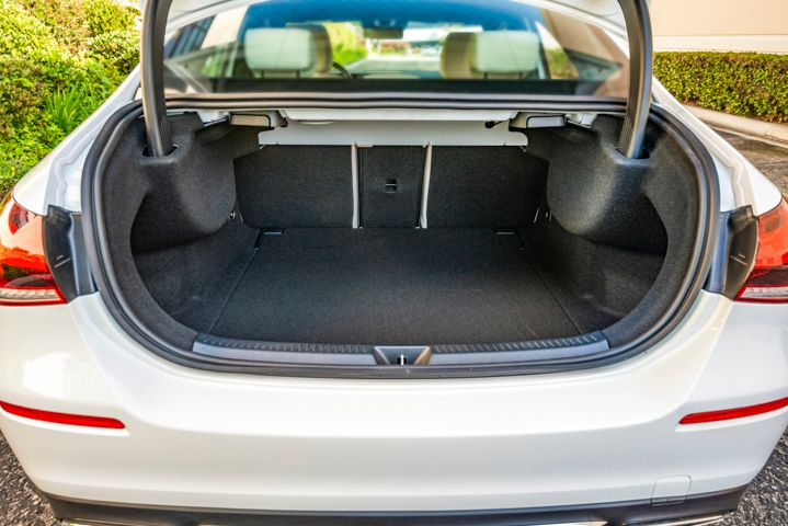 The 8.6 cubic feet of cargo space is small for the category.