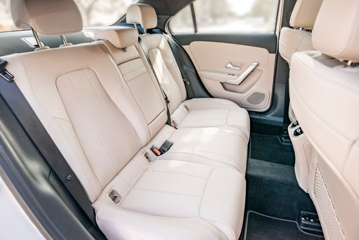 Rear-seat legroom isn't extensive, but the vehicle doesn't feel cramped.