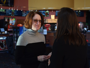 Susan Palmer (left), project manager, and Nicole Spaulding, assistant director of financial...