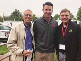 MAFS President Jeff Hart (right) networks with Truck Fest attendees. Hart was named president of...