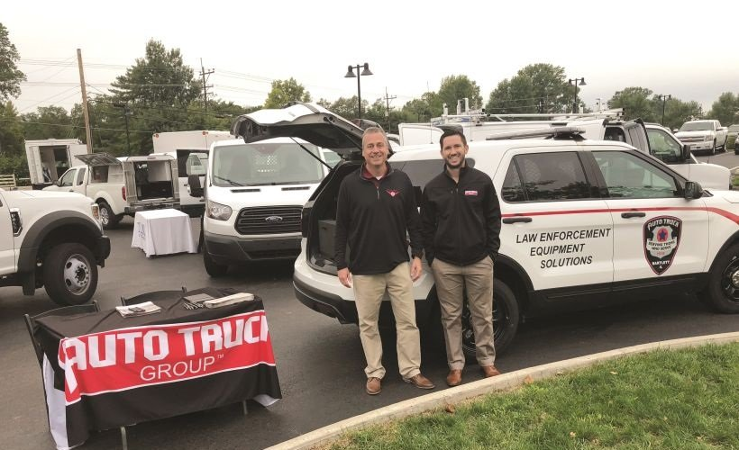 Representing Auto Truck Group were (L-R) Mike Peterson, director of fleet sales, and Kyle Stipe,...