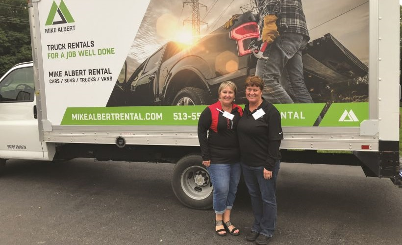One of the services highlighted at Truck Fest was Mike Albert Rental. Posing before one of the...