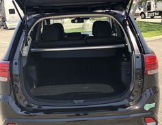 With the back seats folded up, the Outlander offers 30.4 cubic feet of cargo space. Fold those...