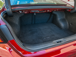 The trunk offers 15.4 cubic feet of cargo space.