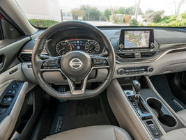 An 8-inch display supports Nissan's upgraded NissanConnect infotainment system.
