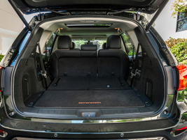 With third row of seating in place, the vehicle offers up to 16.2 cubic feet of cargo space.