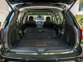 The vehicle is available with up to 79.5 cubic feet of cargo space depending on the seating...