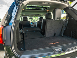 Users can fold down second or third row seating in various configurations.