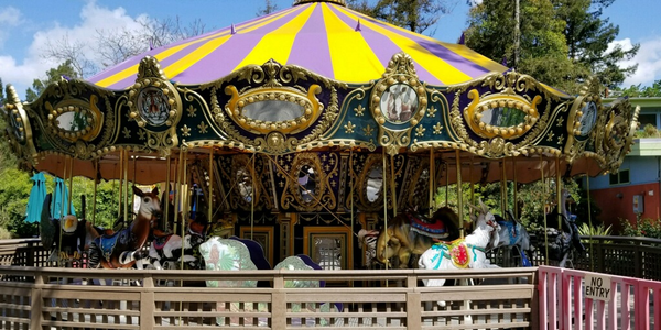 In addition to its vehicles, the fleet team maintains amusement rides at a city park.