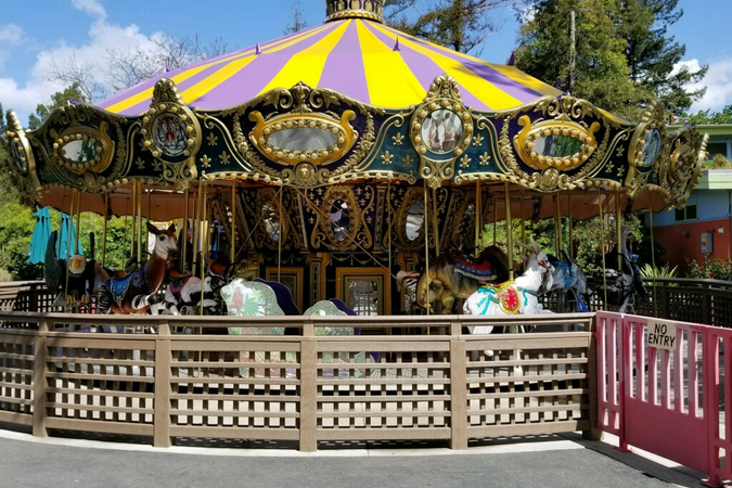 In addition to its vehicles, the fleet team maintains a city-owned carousel.