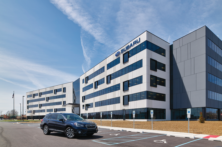 The all-new Subaru of America headquarters held its grand opening on April 27, 2018. The $118 million campus, located in Camden, N.J., brings four previously separate offices under one roof. Double the size of the OEM's previous HQ at 250,000 sq. ft., it houses 550 employees.  - Photo by Mike Antich