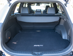 Behind the back seats, the SUV offers 37.6 cubic feetof cargo space.
