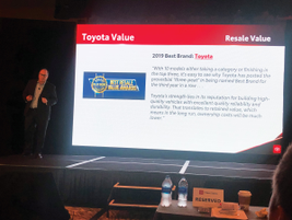 Toyota's strategy is to manage fleet sales volume to be 10% of total sales, which has helped...