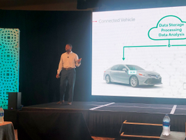 Equan Tompkins discussed Toyota's connectivity strategy using an embedded telematics solution to...
