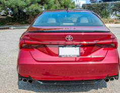 When you approach the vehicle and remotely unlock it, the Avalon's taillights light up in a...