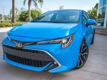 Toyota is offering its Corolla Hatchback in two trim grades, including SE and XSE.