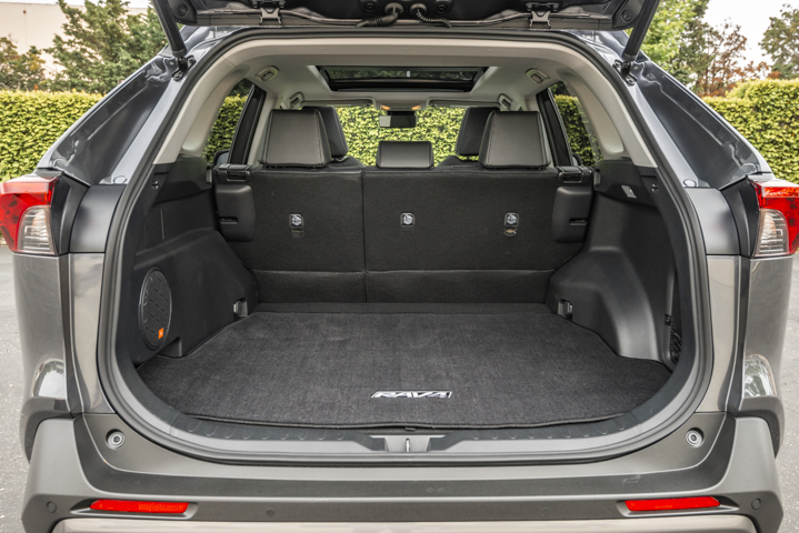 With the second row of seats in place, the vehicle offers 37.6 cu.-ft. of cargo space.