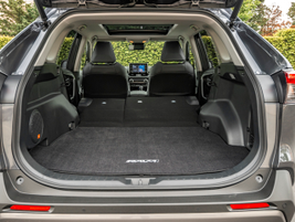 Folding the seats down gives you 69.8 cu.-ft. of space.